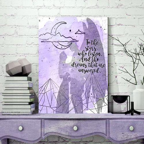 Quadro MDF - Bookstagram - Corte de Espinhos e rosas - To The Stars