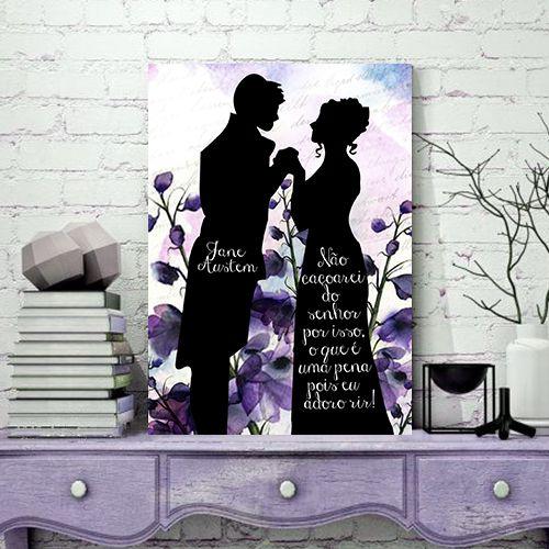 Quadro MDF - Jane Austen - Não Esquecerei