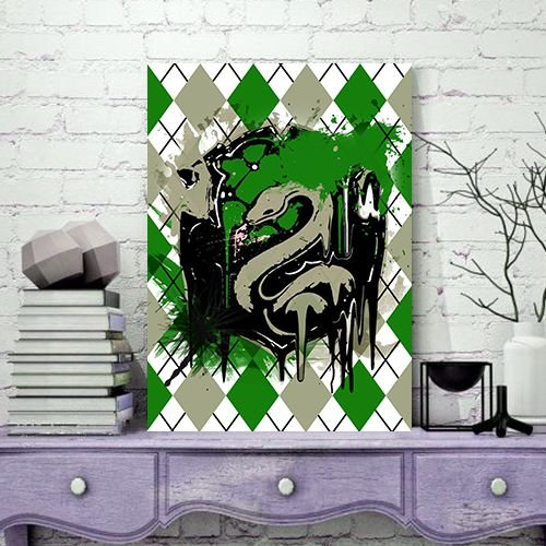 Quadro MDF - Harry Potter - Sonserina