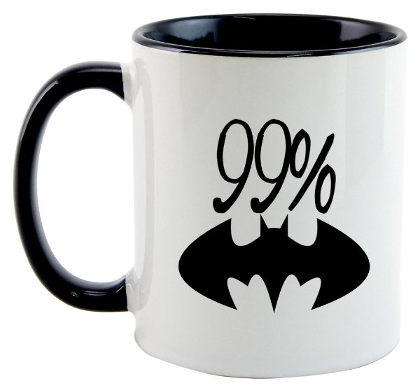 Caneca 99% Batman, mas 1% Superman