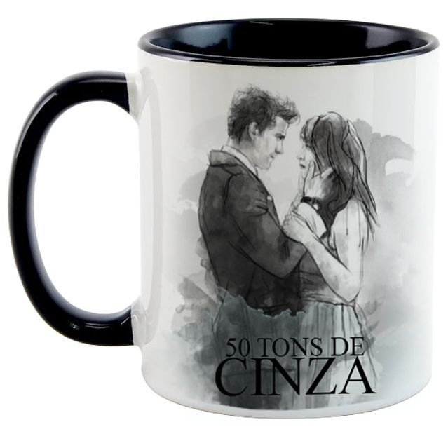 Caneca 50 Tons de Cinza - Ana e Grey