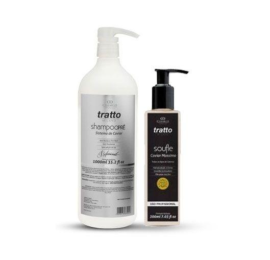 Tratto Detox para Limpeza de impurezas - Shampoo Pré de Caviar + Soufle Massimo Hidratante 200ml