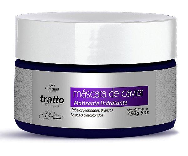 Máscara Matizadora de Caviar Platinum  - hidratante e reconstrutora - 250g