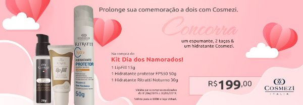 Kit de Dia dos Namorados Cesta 1