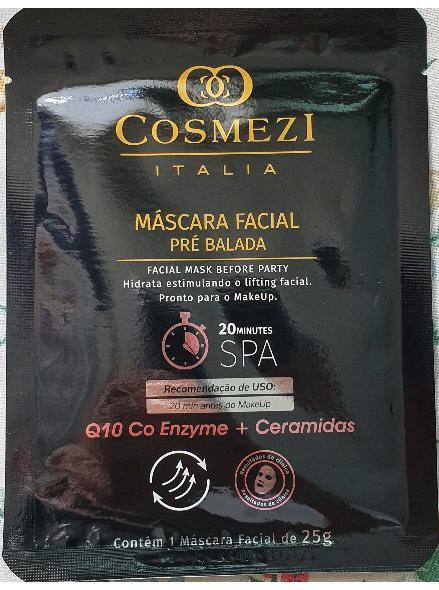 Máscara Facial Pré balada – Enzima Q10 + Ceramidas