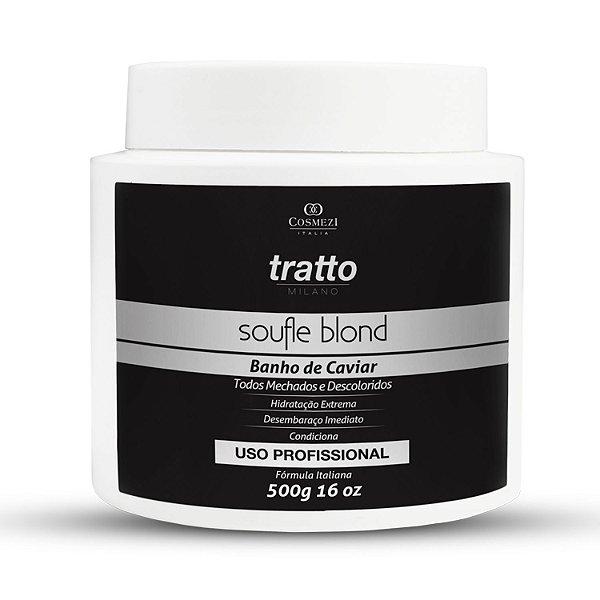 Condicionador Caviar Soufle Blond Profissional - Hidratação e Desembaraço para Cabelos Loiros 500g