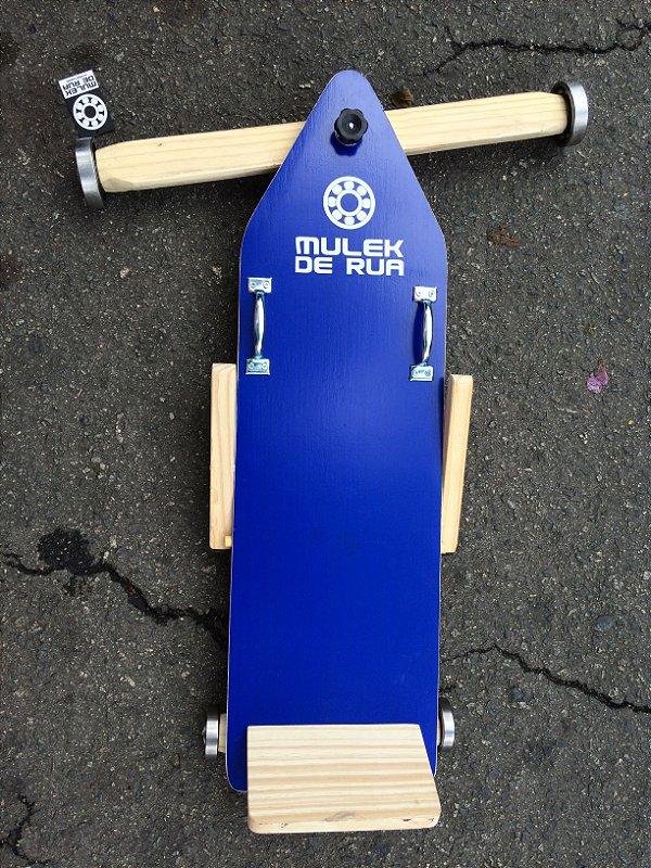 Carrinho de Rolimã Azul c/ Freio - Mlk de Rua