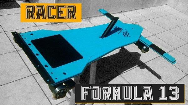 Carrinhos de Rolimã Especiais Fórmula 13 - Modelo Racer Azul