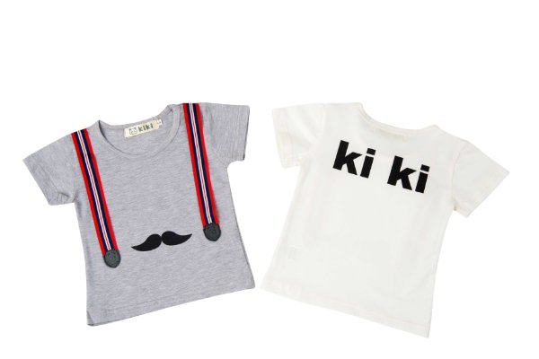 Camiseta Bigode Bebê Kiki Masculina
