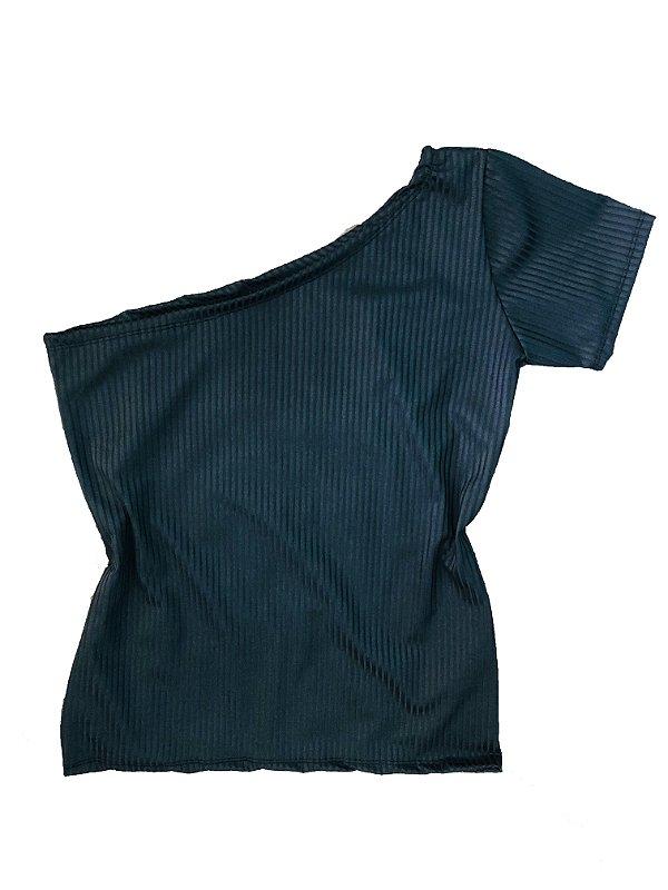 Blusa feminina mula manca um ombro só
