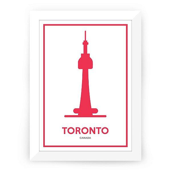 Pôster Canadá Toronto com Moldura