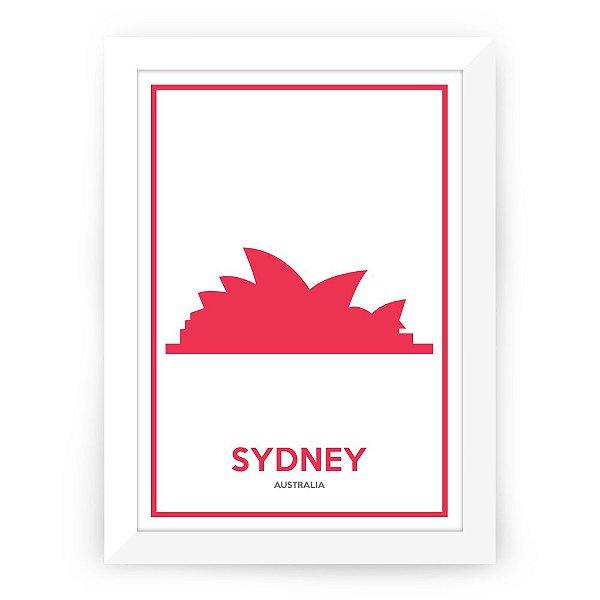 Pôster Austrália Sidney com moldura