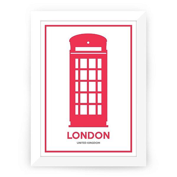 Pôster Londres com moldura