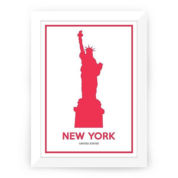 Pôster Nova York com moldura