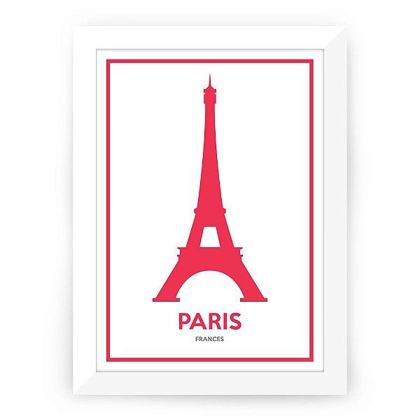 Pôster Paris com moldura