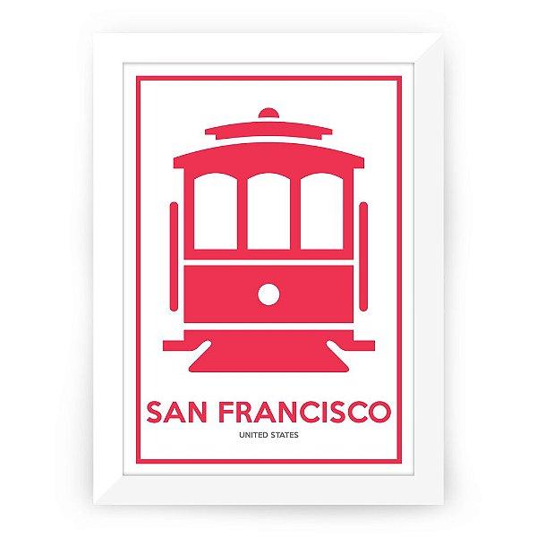 Pôster São Francisco com moldura