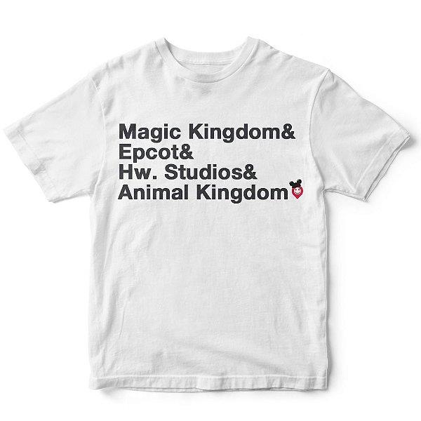 Camiseta parques da Disney
