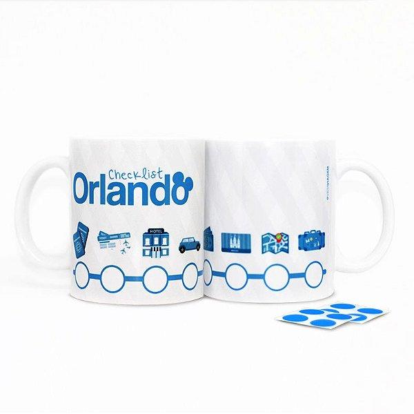 Caneca Checklist para Orlando