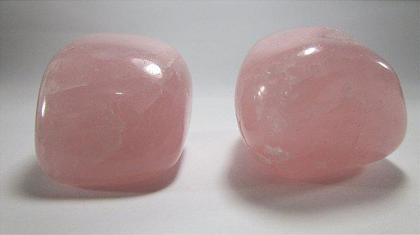 Quartzo Rosa Rolado (Unidade)