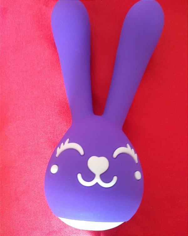 Vibrador e Estimulador Happy Bunny - Intenso Duplo Roxo