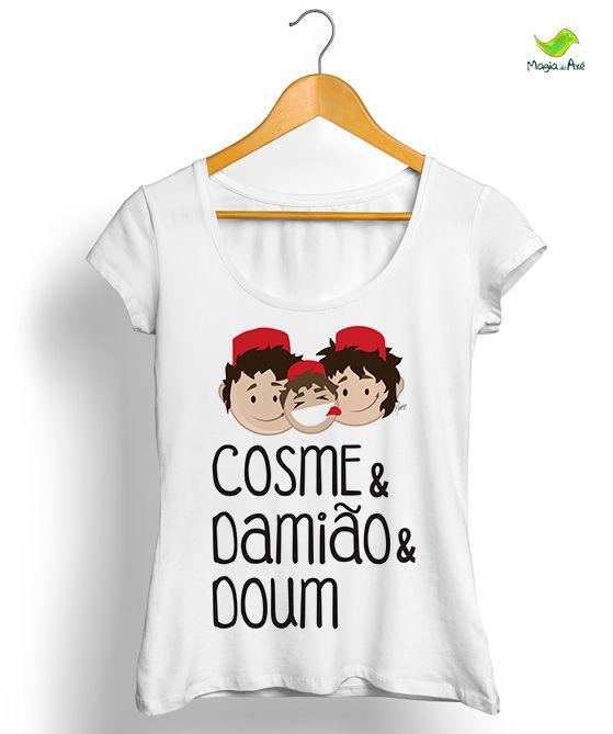 Camiseta Cosme, Damião e Doum