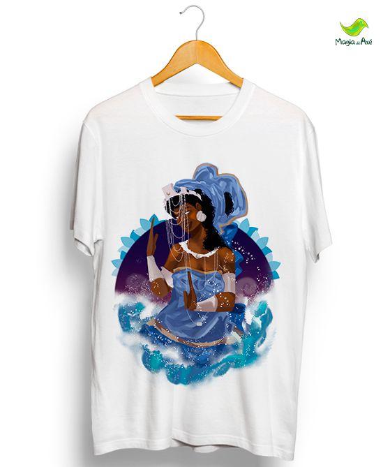 Camiseta - Iemanjá, Mãe das águas salgadas