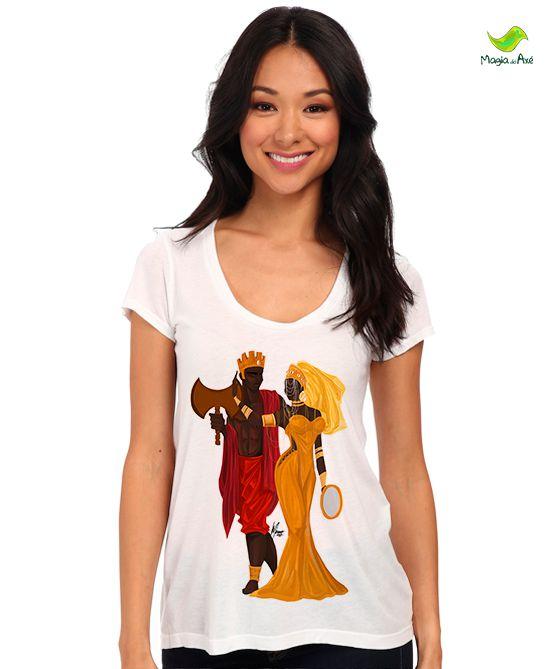 Camiseta - ÒSÚN E SÀNGÓ apaixonados
