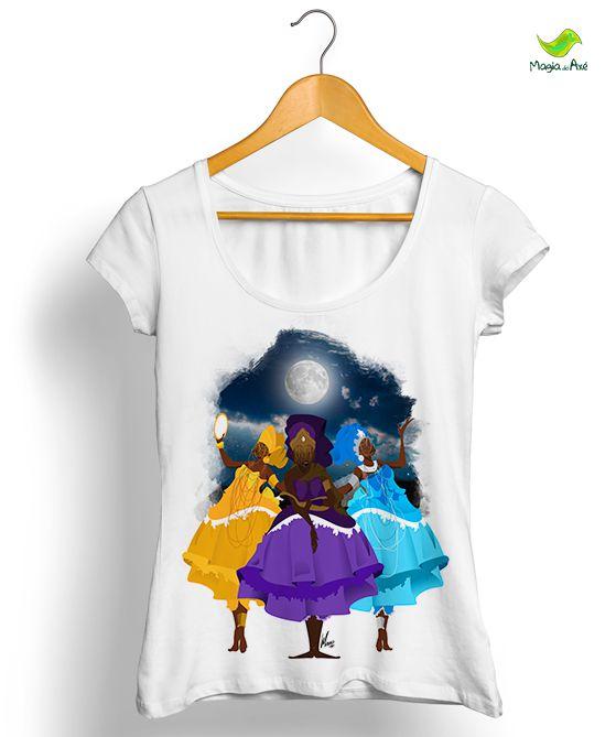 Camiseta - Deusas da Lua (Iemanjá, Oxum e Nanã)