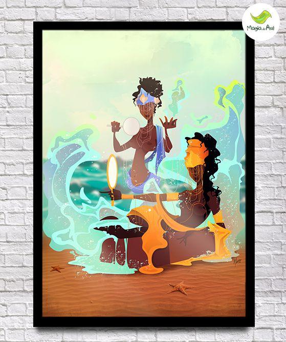 Pôster A3 - Mãe e filha (Oxum e Iemanjá)