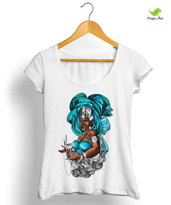 Camiseta - Yá omo ejá, a mãe dos peixes