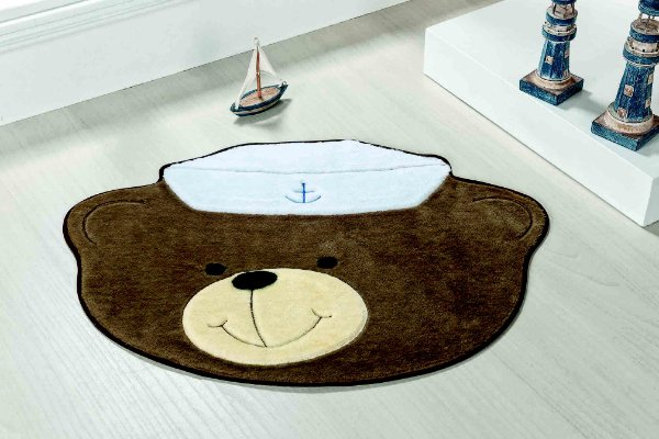 Tapete Formato Baby Antiderrapante Urso Marinheiro Castor