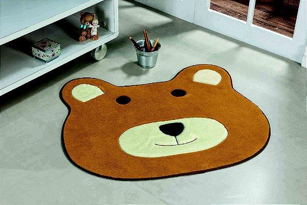 Tapete Formato Feltro Antiderrapante Urso Caramelo