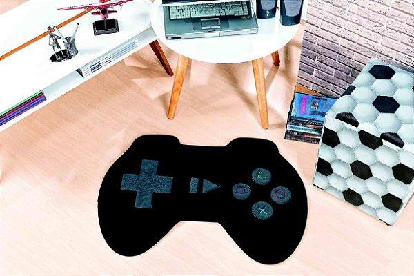 Tapete Formato Feltro Antiderrapante Controle Video Game Preto
