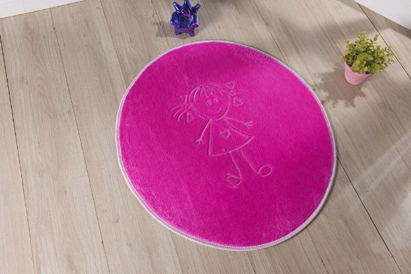 Tapete Formato Feltro Antiderrapante Helena Pink