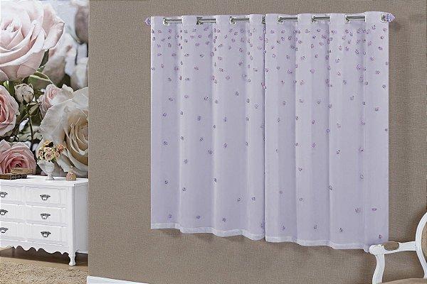 Cortina Sofiê Para Varão Simples 2.00m x 1.70m. Lilás