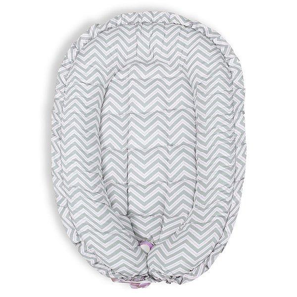 Ninho Redutor para Bebê - Chevron Rosa