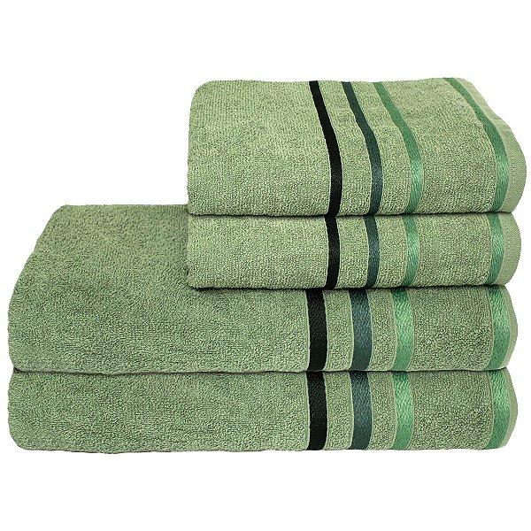 Jogo de Banho 4 peças Portinari - Verde Éden