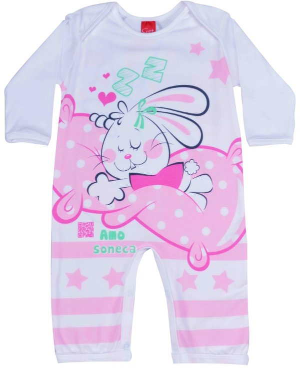 Macacão manga longa soneca Get baby