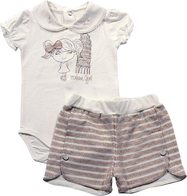 Conjunto de body e shorts italian girl Noruega