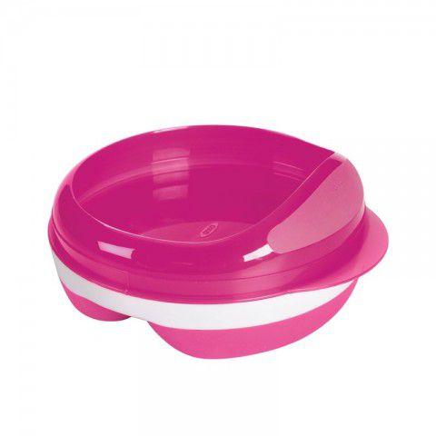 Prato com divisória rosa Oxo Tot