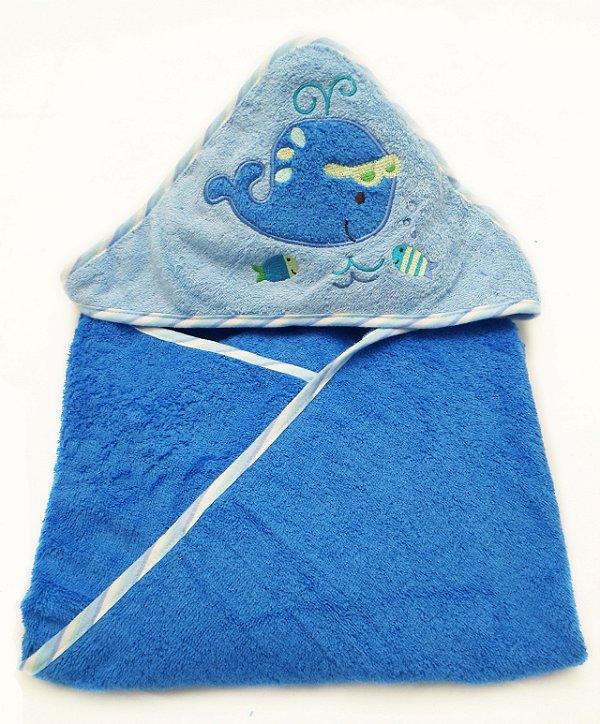 Toalha com Capuz Azul Clingo