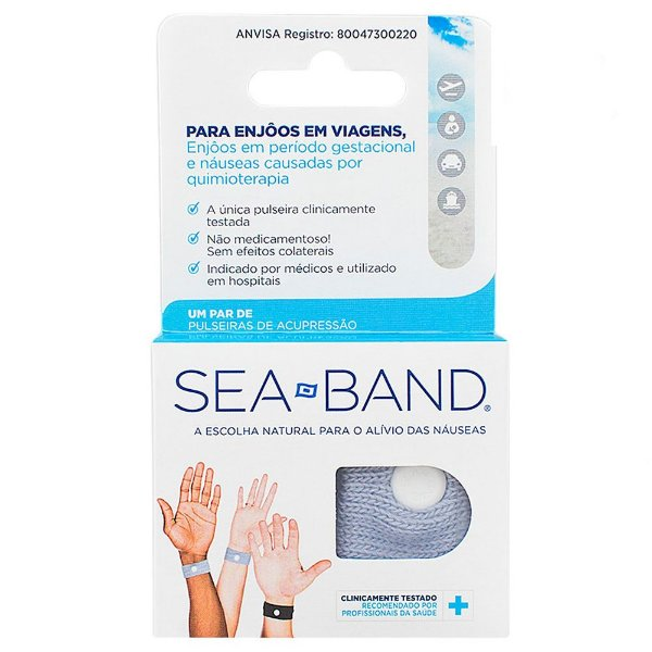 Pulseira Anti Enjôo Azul Sea Band