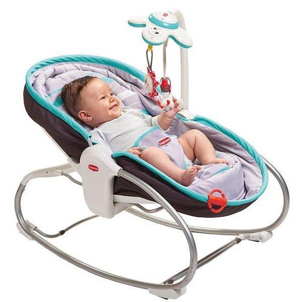 Cadeira de Balanço Rocker Napper 3 em 1 cinza Tiny Love
