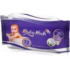 Lenços umedecidos c/72 Baby Bath
