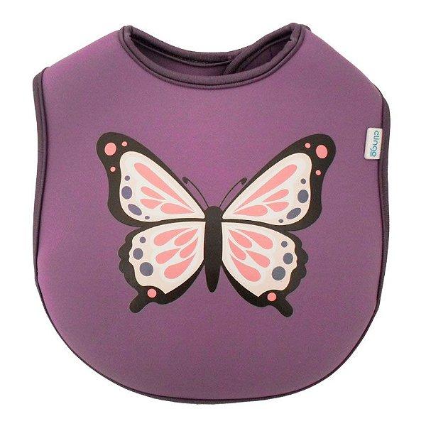 Babador de neoprene borboleta Clingo