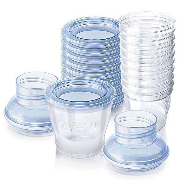 Kit de copos para armazenamento de leite Philps Avent