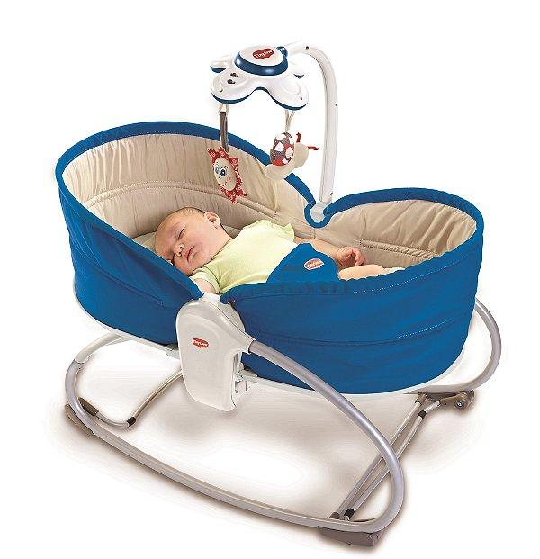 Cadeira de Balanço Rocker Napper 3 em 1 azul Tiny Love