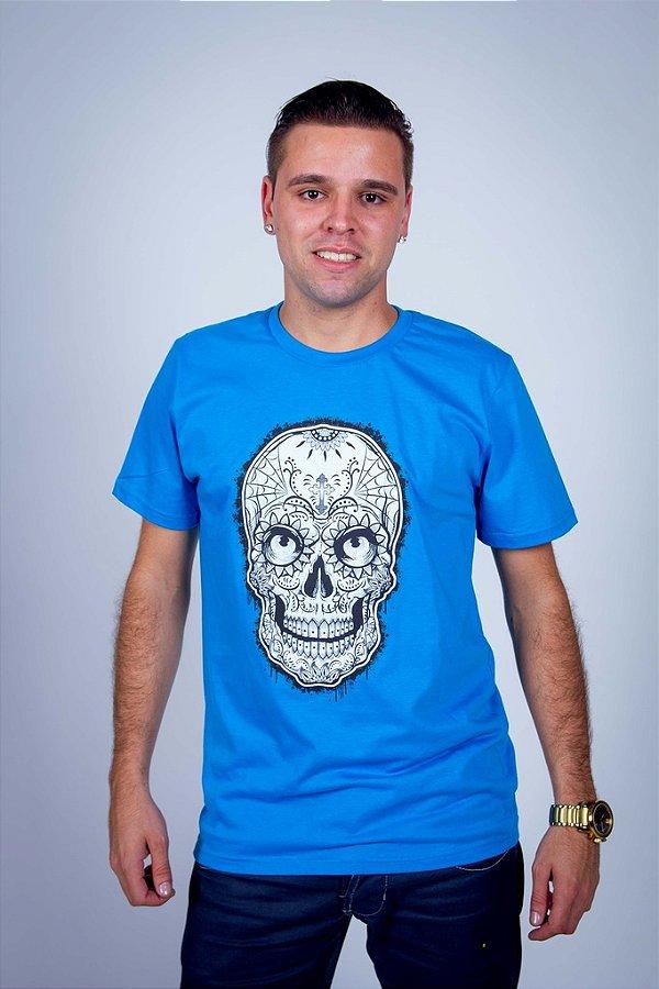 Camiseta Caveira Mexicana Branca