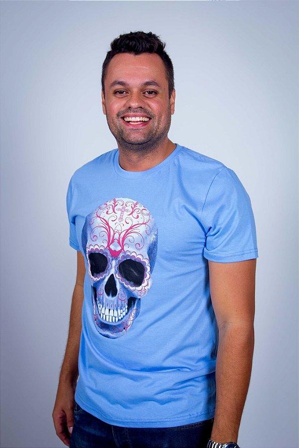 Camiseta Caveira Tatuada