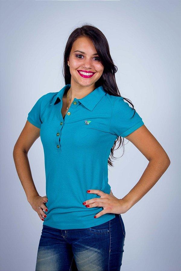 Camisa Polo Feminina Verde